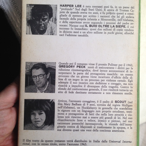 Quarta di copertina dell'ottava edizione della Feltrinelli, che pubblicò per la prima volta in Italia il capolavoro nel 1962