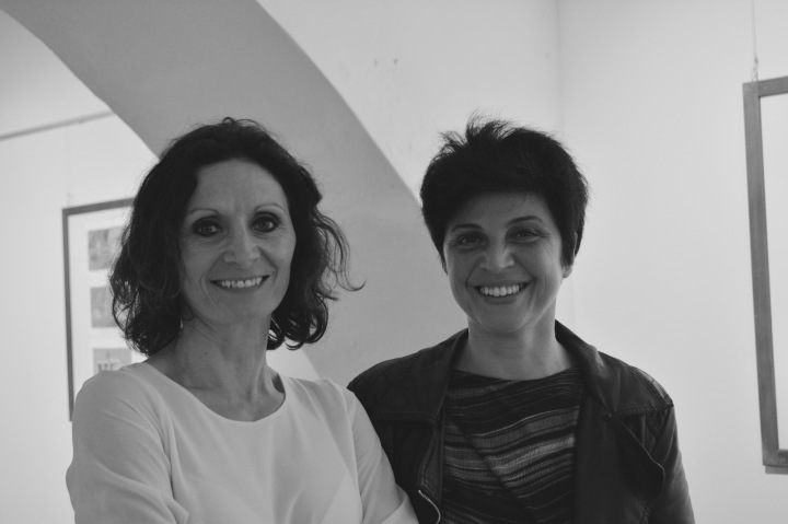 Emanuela Orciari, a sx., con sua sorella