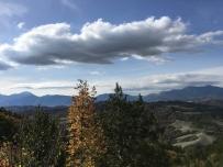 da sinistra: monte Acuto, monte petrano e monte Nerone